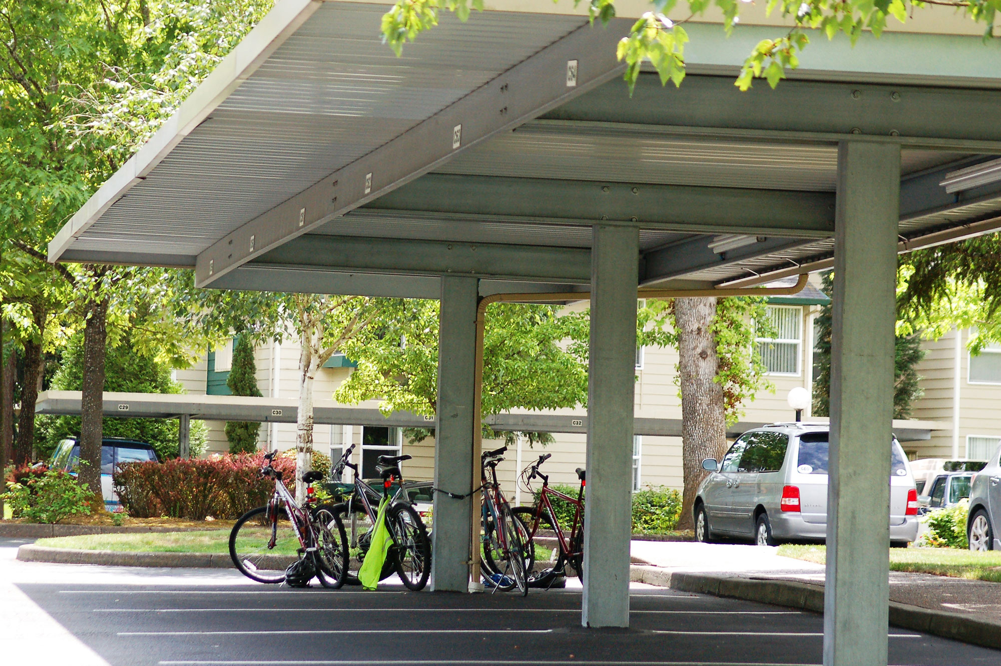 Bicycle covers steelport llc for Rv covered parking structures