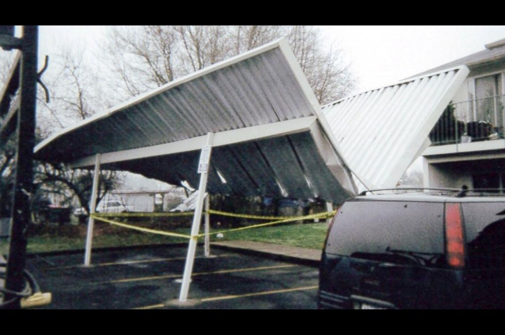damaged car port