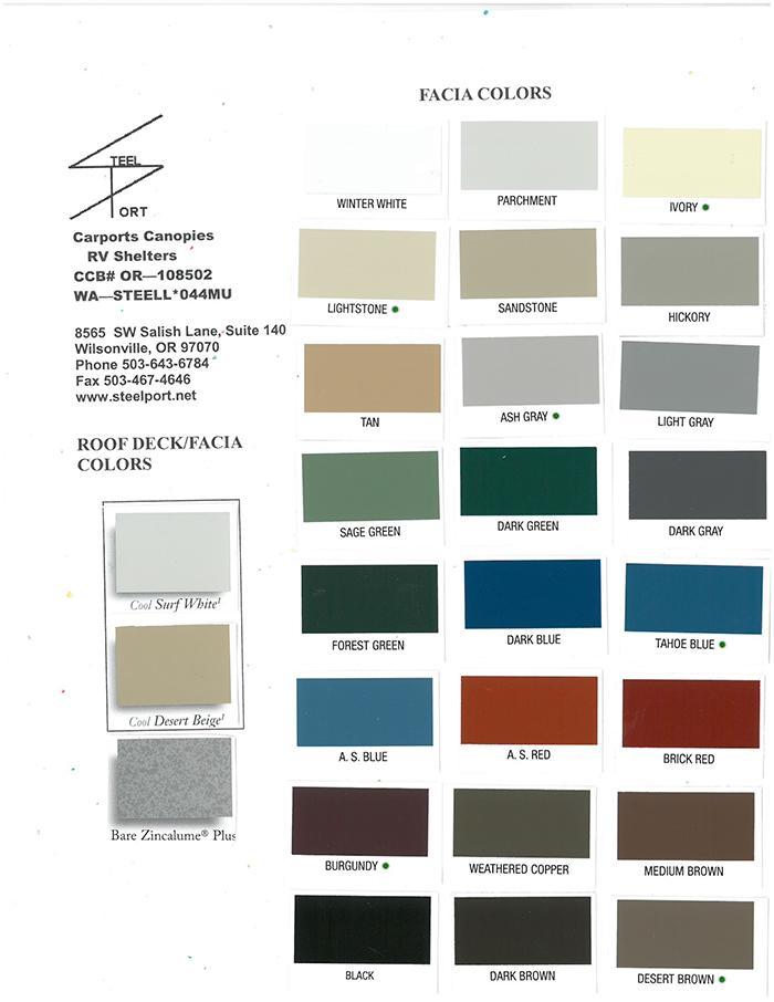 Steelport Color Chart
